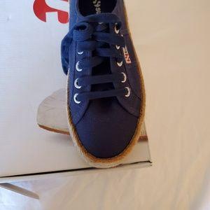 Superga platform tennis shoes